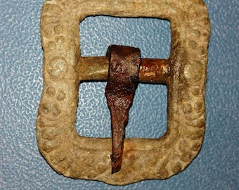 Ancient tin buckle of the 18th-19th century