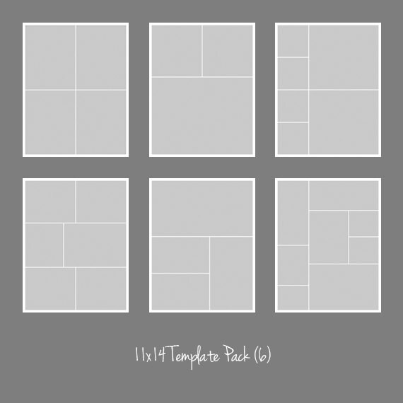 11x14 Photo Template Pack Collage Photographers Storyboard