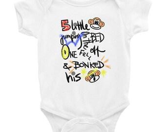 5 Little Monkeys Infant Bodysuit