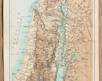 Palestine wall map Etsy
