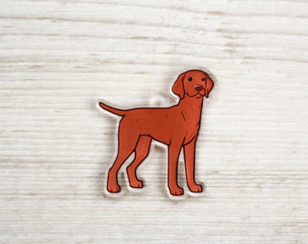 Vizsla - Acrylic Charm - Pendant - Phone Strap - Gift for Dog Lover - Ornament - Weim - Gift - Magyar - Hungarian - Hunting Dog - Pointer