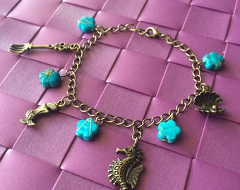 Bracelet charm charms Ariel Little Mermaid - Once upon a time