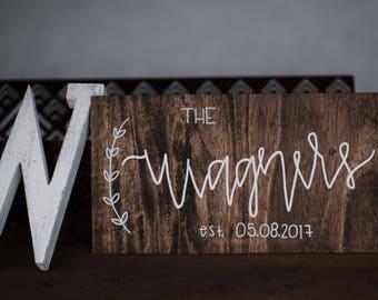 Wood Sign - Family Name - Wedding