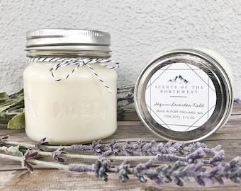 Lavender Candle - Lavender Scented Candle - Lavender - Scented Candle - Spring Scented Candles - Spring Candles - Lavender Fields