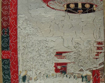 Hand-cut wooden jigsaw puzzle, 316 pieces, Andô Hiroshige