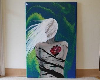 24X36 Canvas Acrylic Painting