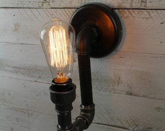 Staithes : SteamPunk industrial wall light / sconce from pipework fittings.
