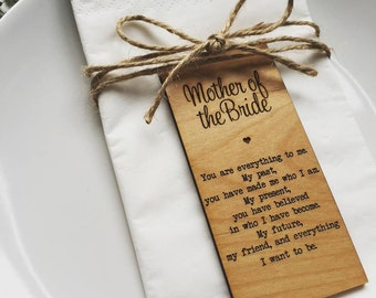 Mother Of The Bride Wooden Place Setting