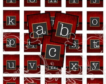 CHALKBOARD alphabet and more digital collage sheet scrabble tiles