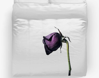A Beautiful Demise II Purple Rose Photography Duvet Cover