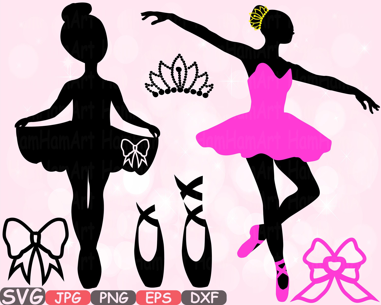 Ballett Ballerina SVG Silhouette Schneiden Dateien Zeichen