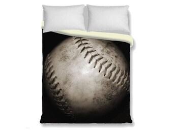 Softball Duvet Cover-Softball Bedding-Sports Duvet Cover-Girls/Boys Bedroom Decor-Microfiber Duvet Cover-Photo Bedding-Twin Duvet-King Duvet
