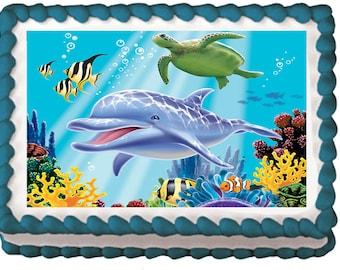Dolphin cake Etsy