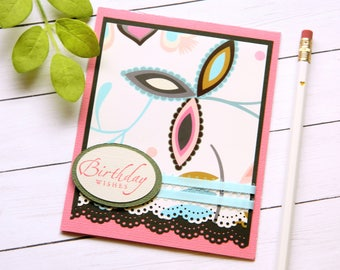 Bday Cards For Woman - Floral Birthday Card - Best Friend Birthday - Girlfriend Bday Card - Mom Bday Cards - Stampin Up Cards