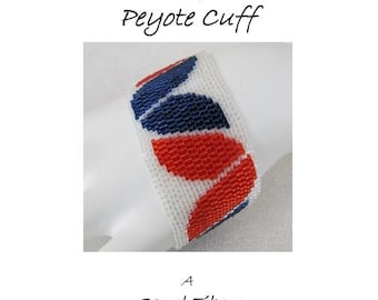 3 for 2 Program - Tulips Peyote Cuff - For Personal Use Only PDF Pattern