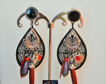 These earrings a scarlet night
