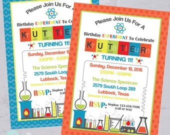 Science Party Invitation | Mad Scientist Birthday Party |  Science Lab | Birthday Experiment | Printable Invitation | The Party Darling