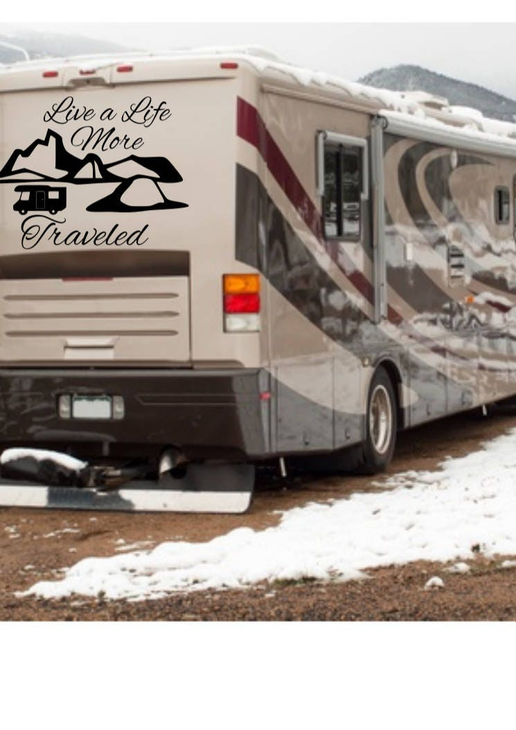 Custom rv decal rv decals decal for camper decals for rv custom rv sign wanderlust decal custom camper decal motorhome decals