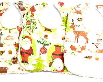 Christmas Bib Set, 3 Bibs, 6 mos - 18 mos