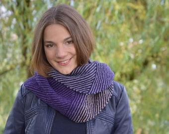 Return, shawl knitting pattern PDF,  garter stitch shawl, modular knit, spiral, easy knit
