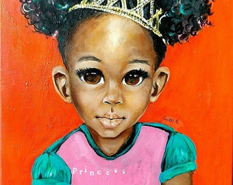 Princess: Abstract Portrait Painting by Salkis RE