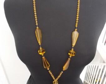 1920s / 30s Art Deco Glass Necklace
