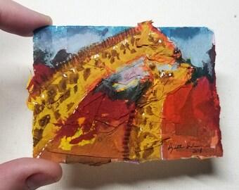 "Original Collage ACEO ""Giraffe"""