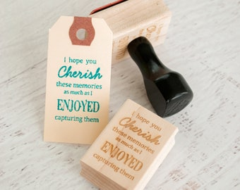 Photographer Packaging - Wooden Stamp for Photographers - Packaging Stamp - Gifts for Photographer - Photography Props - Cherish