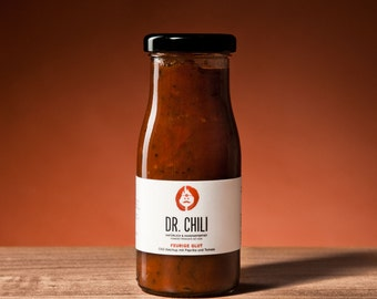Dr. Chili-spicy and spicy, vegan chili ketchup with paprika-the gift for men and women