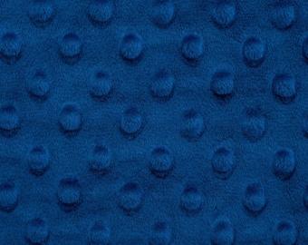 Royal Blue Minky Cuddle Dimple Minky - Shannon Fabrics - Dimple Minky