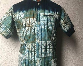 50's Vintage Men's  Nehru Hippie Tiki Shirt Sm/Med.