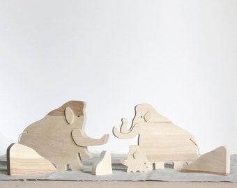 MAMMOTHS - Wooden Art Set