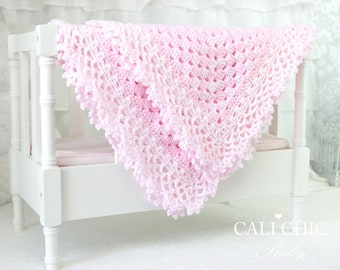 Crochet PATTERN 143 - Freesia- Baby Blanket PATTERN 143 - Instant Download