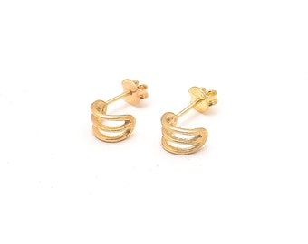 Three Sleeper earring in Sterling Silver or gold