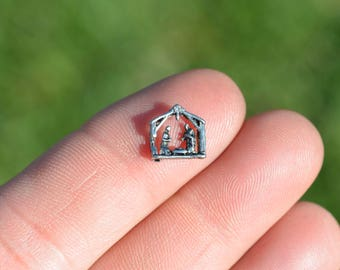 1 Memory Locket Nativity Scene Charm FL134