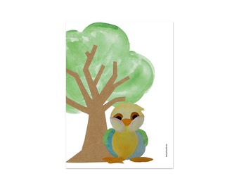 Bird Print, bird artwork print, playroom decor, Baby room decor, watercolor, nursery decor, animal art print, baby nursery decor, bird decor