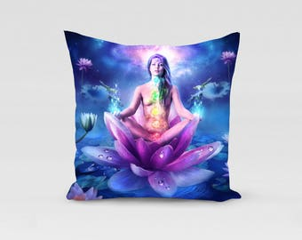 chakra fanatsy art pillow cover size 18x18 inches