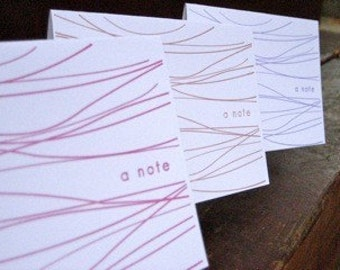 SALE- Waves Blank Note Cards-Pack of 6