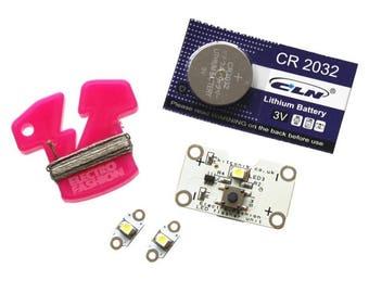 Electro-Fashion, LED Flasher Module Kit Sewable electronics etextiles e-textiles conductive thread