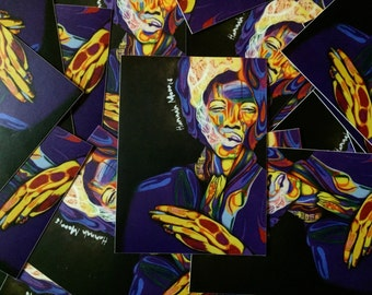 Jimi Hendrix stickers