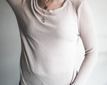 Avocado Dyed Pink Sweater