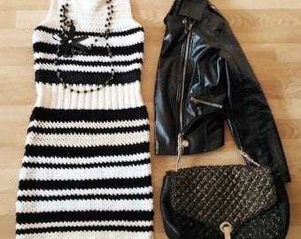 Woman handmade crochet dress new Chanel style