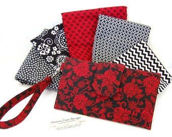 women's wallet, made to order in your choice of fabric, wristlet, small purse, cell phone accessory, wallet with strap, gifts for women