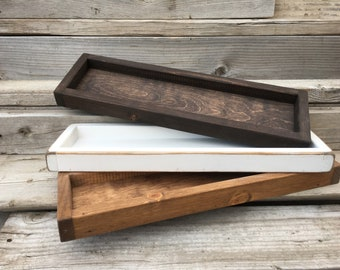 Attirant Wood Tray, Bathroom Tray, Rustic Wood Tray, Wooden Tray,Farmhouse Tray,  Decorative Coffee Table Tray, Accent Table Tray, Catch All Tray