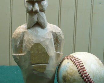 Basswood Wood Carving Roughout-Hand Carved Wood Caricature Figure