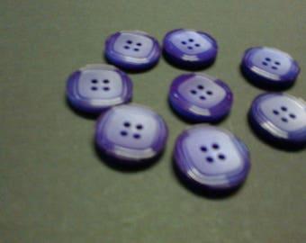 16 buttons purple sparkly edges part Central matte ø 2cm