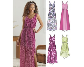 New Look Pattern 6282 Misses' Dress in Two Lengths (US 4-16)