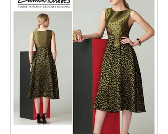 Vogue Sewing Pattern V1566 Misses' Fit-and-Flare Sleeveless Dress