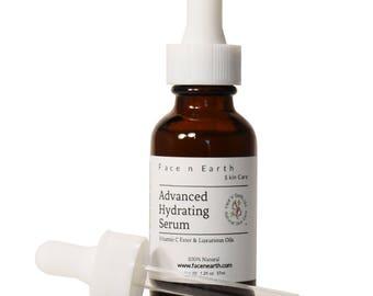 Advanced Hydrating Serum with Vitamin C Ester/Squalane/Rosehip/Sea Buckthorn/Argan/Borage/Cranberry Oils Anti-Aging/Dry Skin/Mature Skin