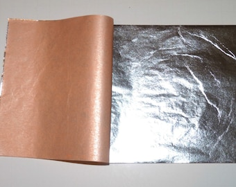 """Pure 999 Silver Leaf Sheets - 25 Leaves - 3.75"""" x 3.75"""" - 9 x 9 cm - Gilding, Art Work, Edible, Food Decorating"""